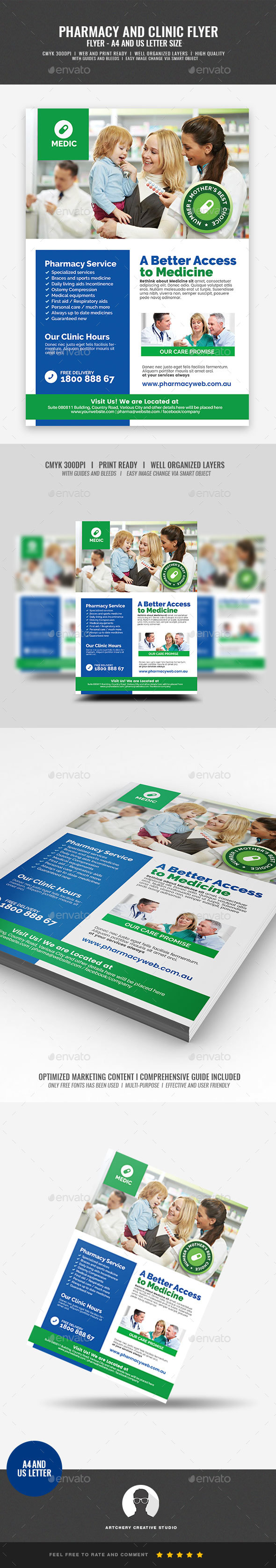 Pharmacy and Medical Clinic Flyer - Corporate Flyers