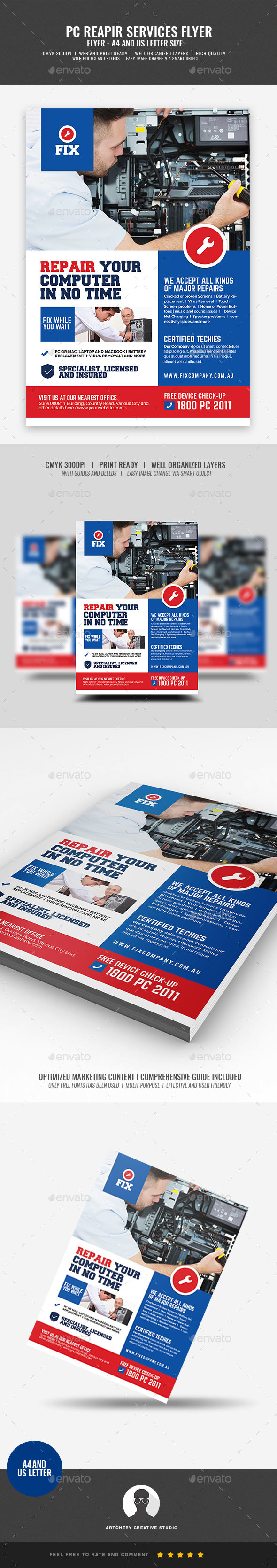 Computer Repair and Maintenance Flyer - Commerce Flyers