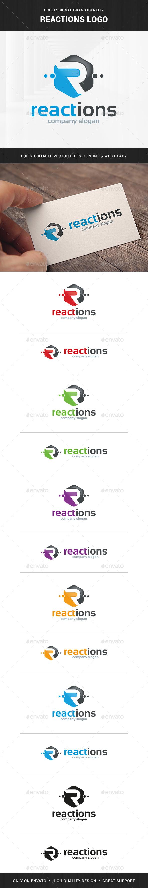 Reactions - Letter R Logo - Letters Logo Templates