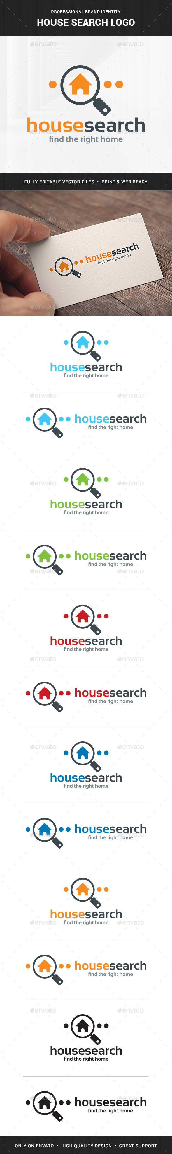 House Search Logo Template - Buildings Logo Templates