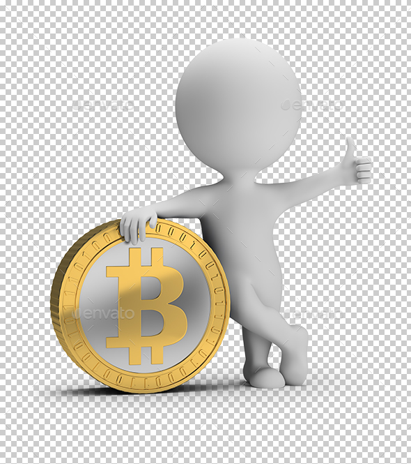 3D Small People - Bitcoin - Characters 3D Renders