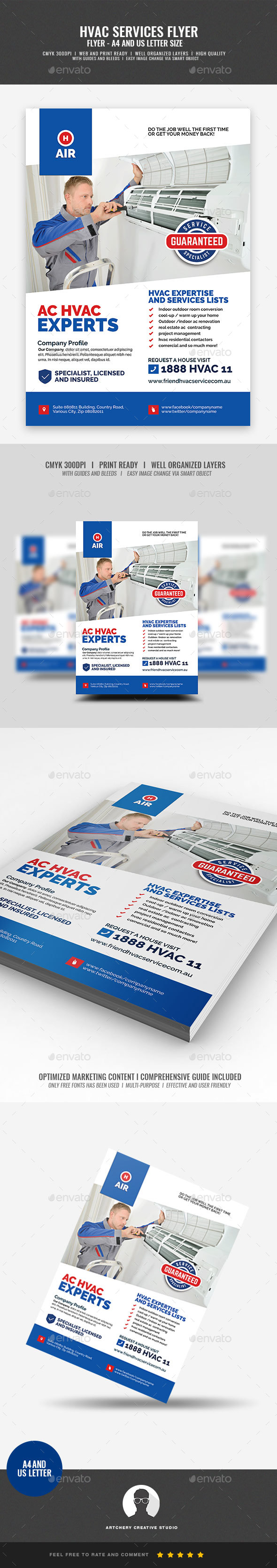 HVAC Repair and Maintenance Flyer - Corporate Flyers