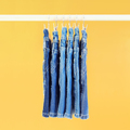 Row of hanged blue jeans - PhotoDune Item for Sale