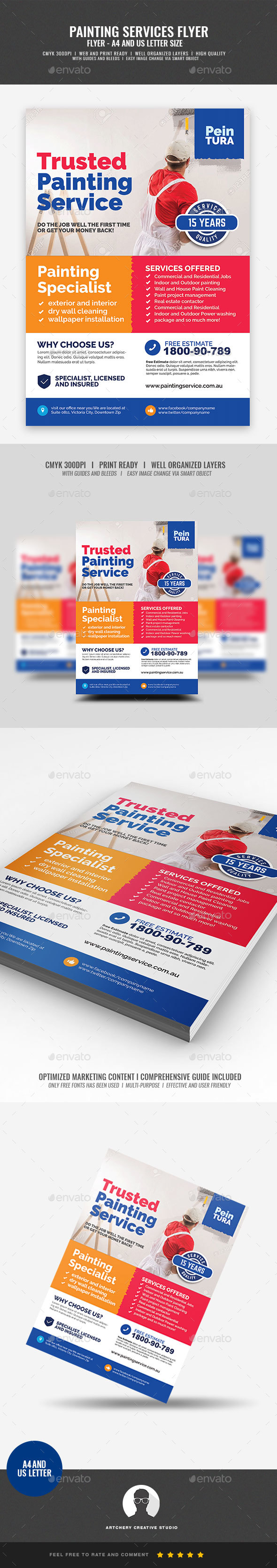 Commercial Painting Promotional Flyer - Corporate Flyers