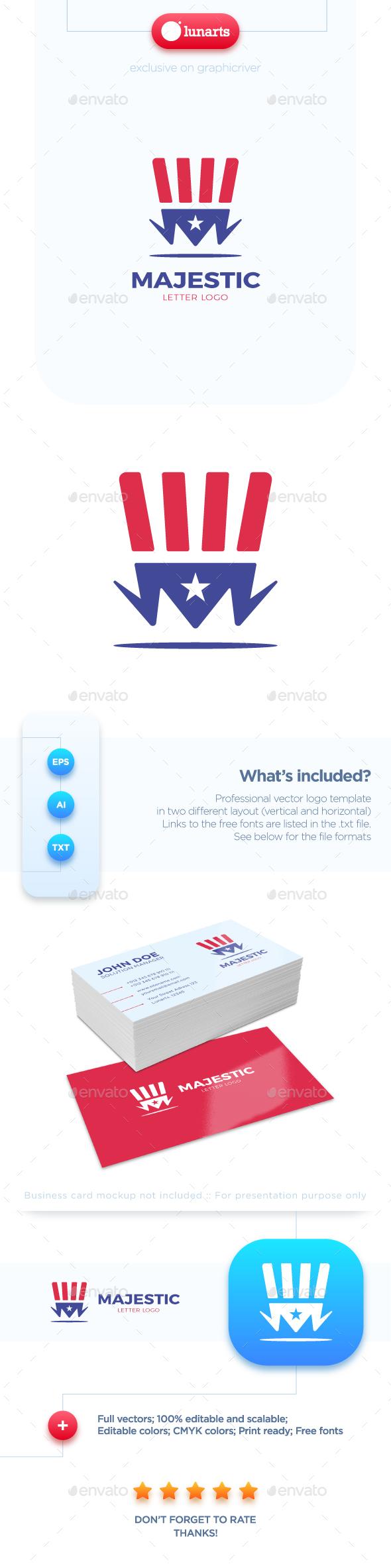 Magic Hat - Letter M Logo - Letters Logo Templates