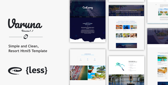 Varuna SCU - Resort Hotel HTML5 Template - Travel Retail