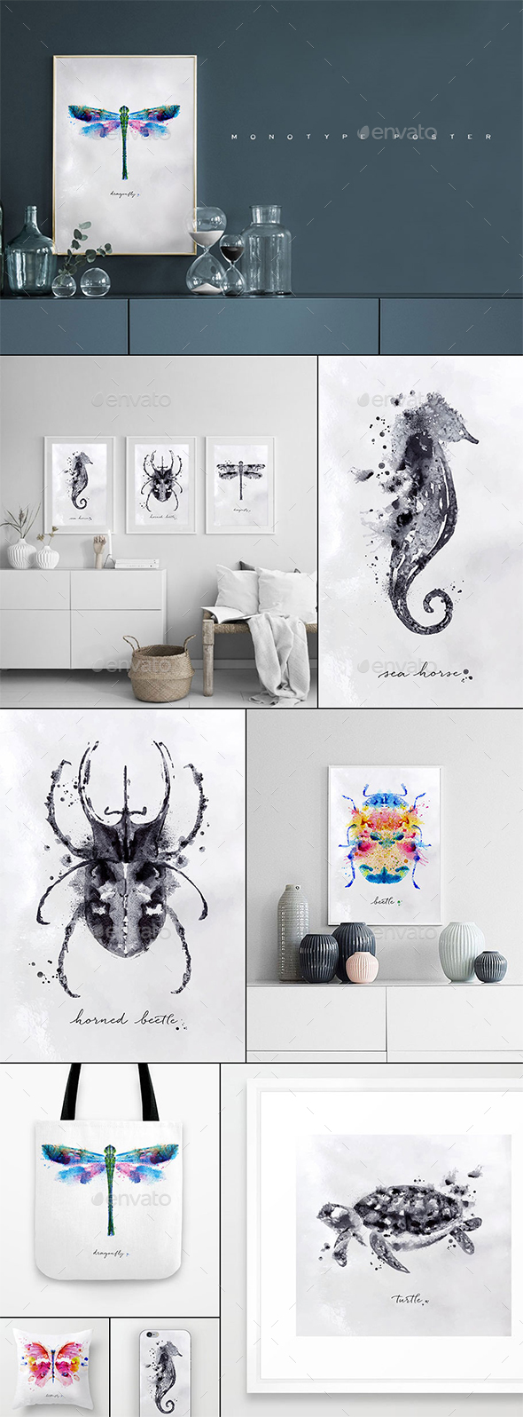 Watercolor Insects - Animals Characters