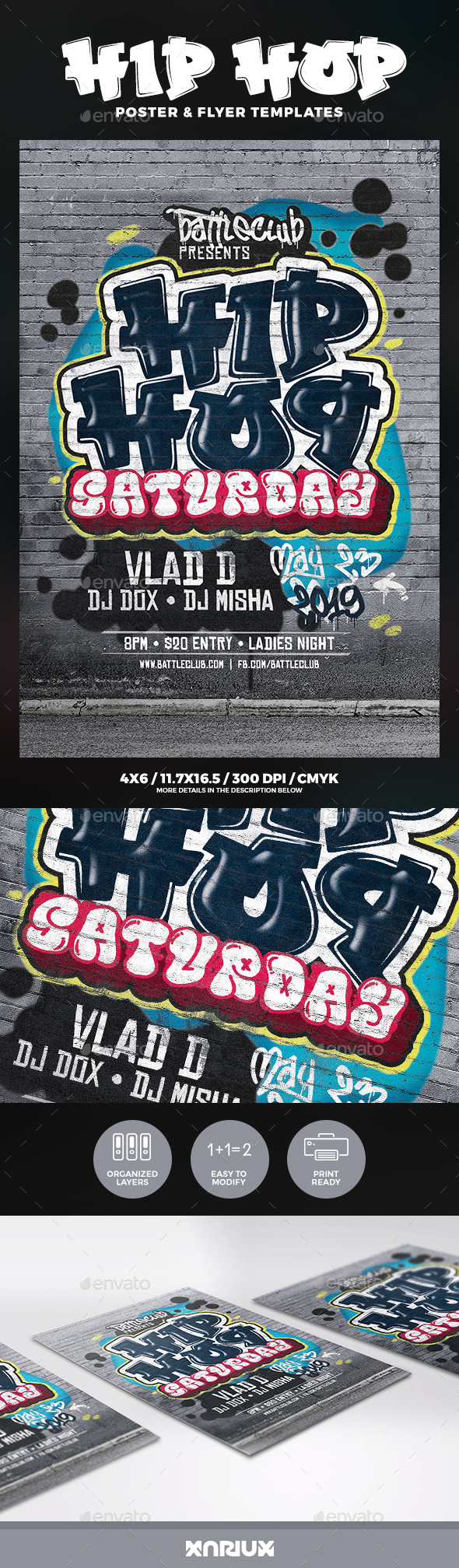 Hip Hop Flyer and Poster - Clubs & Parties Events