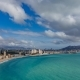 Panoramic  View of Benidorm with High Buildings, Mountains and Sea - VideoHive Item for Sale