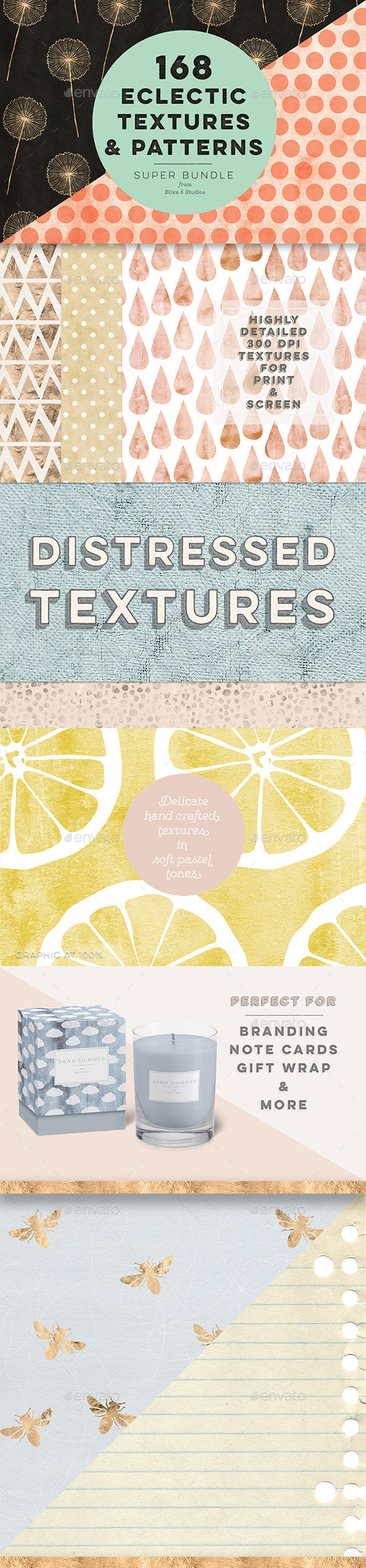 168 Eclectic Textures & Patterns - Abstract Backgrounds