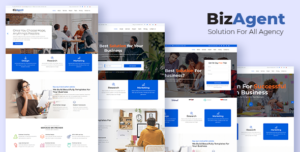 BizAgent - Creative Digital Agency Responsive HTML Template