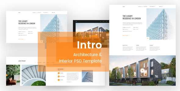 Intro - Architecture & Interior PSD Template - Creative PSD Templates
