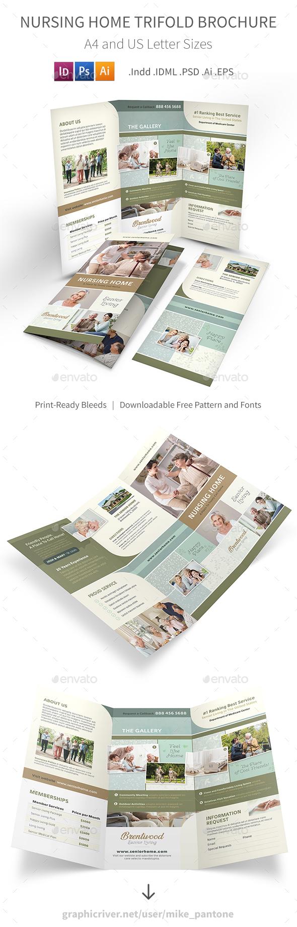 Nursing Home Trifold Brochure 2 - Informational Brochures