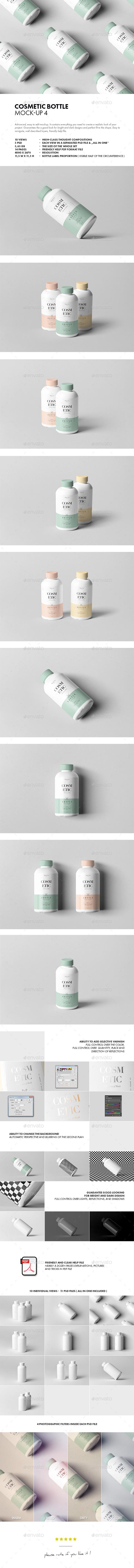 Cosmetic Bottle Mock-up 4 - Beauty Packaging