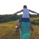 Father and Son Playing on Summer Field at Sunny Day - VideoHive Item for Sale