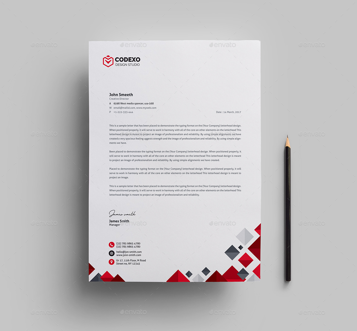 Letterhead Bundle_ 2 in 1 by generousart | GraphicRiver