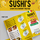 Sushi's Italian Restaurant Trifold (Volume-2) - GraphicRiver Item for Sale