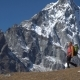 A Man with a Backpack in the Himalayas - VideoHive Item for Sale