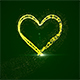 Beautiful Plexus Gold Heart For Valentine's Day - VideoHive Item for Sale