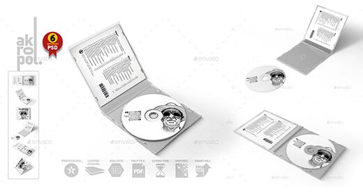 cd dvd mockup