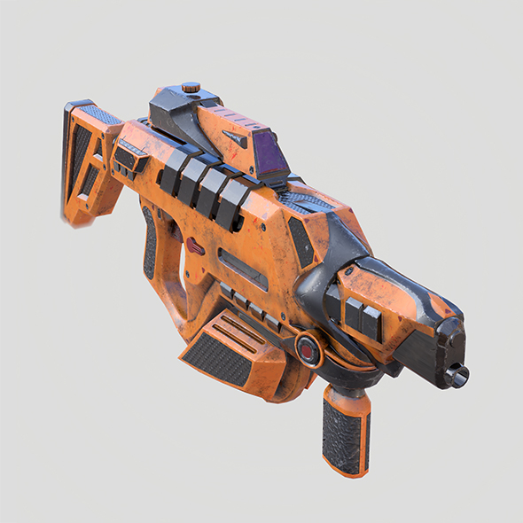 Kinetic Sci fi Rifle - 3DOcean Item for Sale