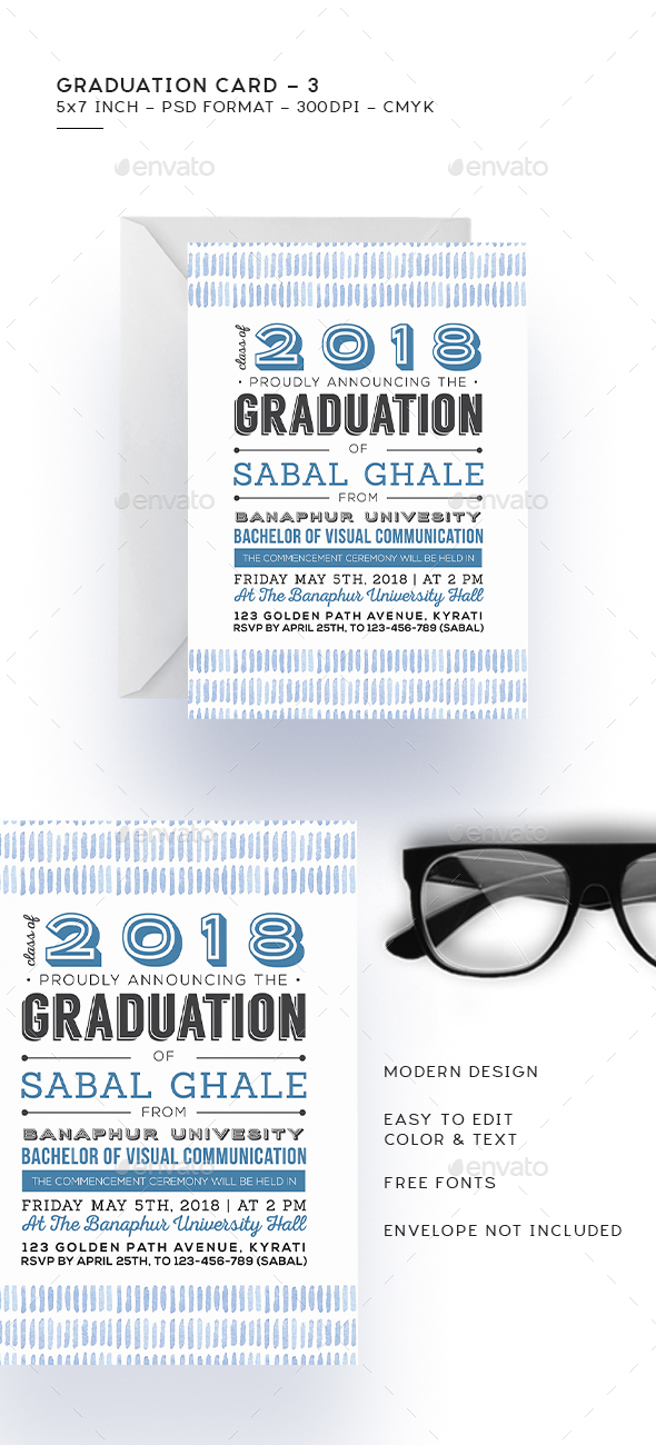 Graduation Card 3 - Cards & Invites Print Templates