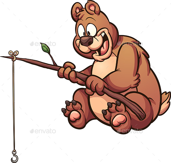 Fishing Bear - Animals Characters