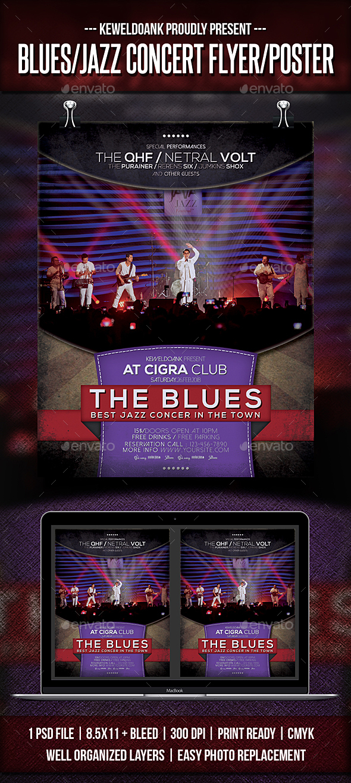 Blues/Jazz Concert Flyer / Poster - Concerts Events