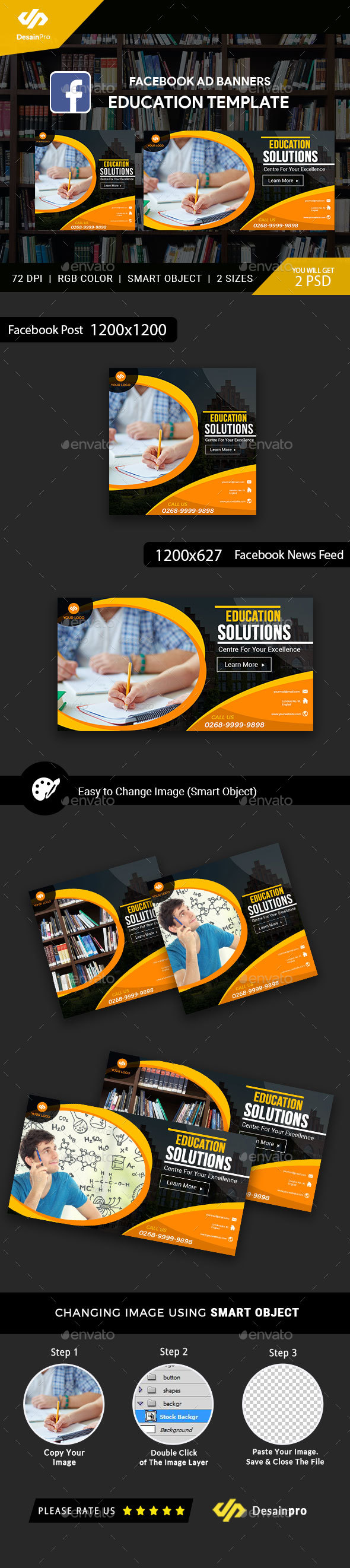 Education Facebook Ad Banners - AR - Facebook Timeline Covers Social Media