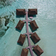 Drone above Overwater Villas in the Maldives - VideoHive Item for Sale