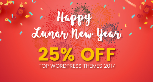 [BEST DEAL EVER] 25% OFF on Top WordPress Themes 2017