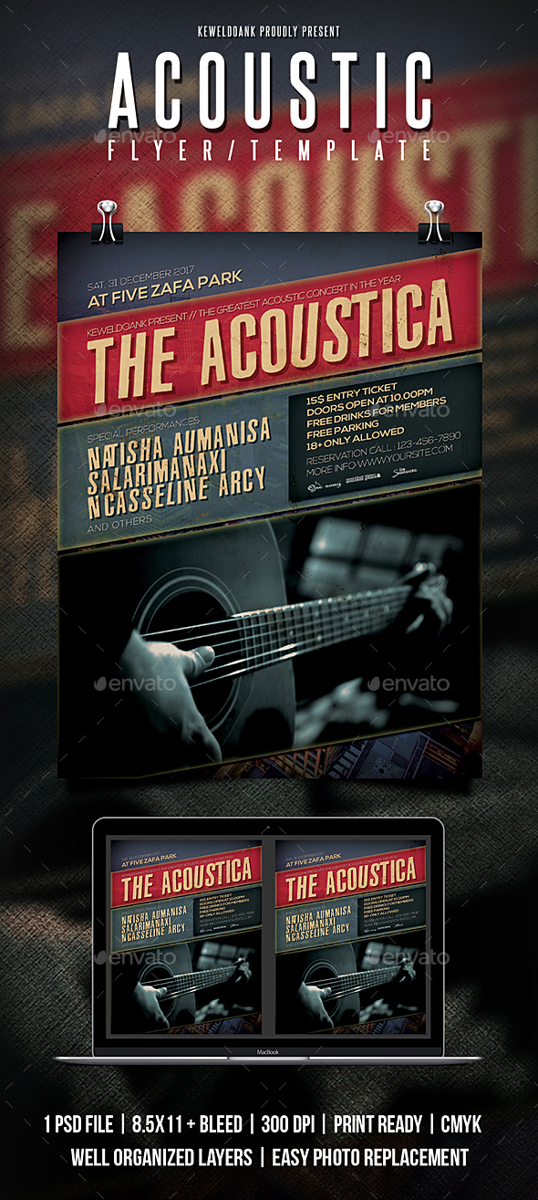 Acoustic Flyer / Poster - Concerts Events