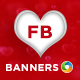 Valentine's Day Facebook Cover and Facebook Banners - GraphicRiver Item for Sale