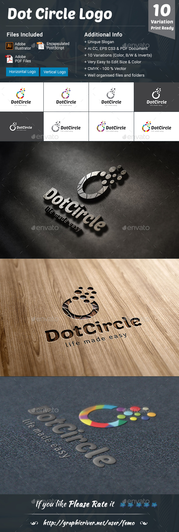 Dot Circle Logo - Vector Abstract