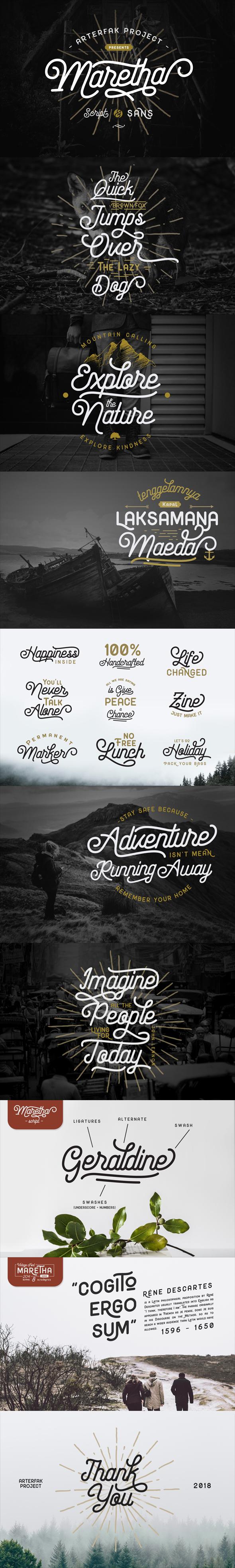 Maretha Font Duo - Script Fonts