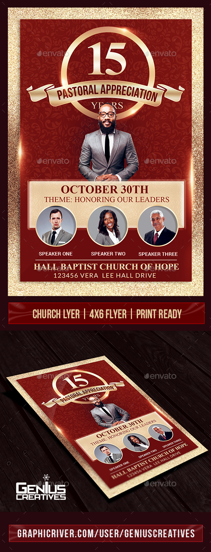 Pastor Appreciation Church Flyer Template - Church Flyers