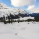 Clouds Flowing Above Peyto Lake on a Snowy Winter Day - VideoHive Item for Sale