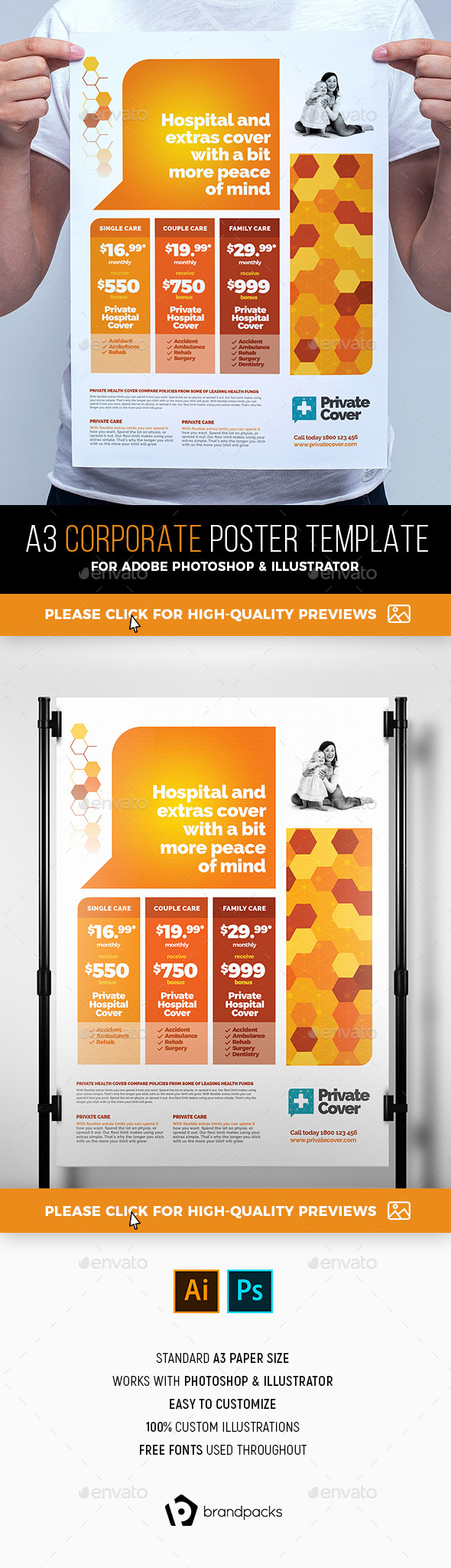 A3 Corporate Poster Template - Corporate Flyers