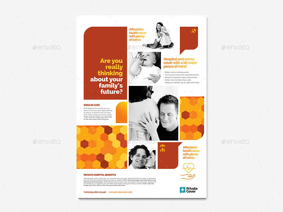 a4 corporate poster template by brandpacks graphicriver