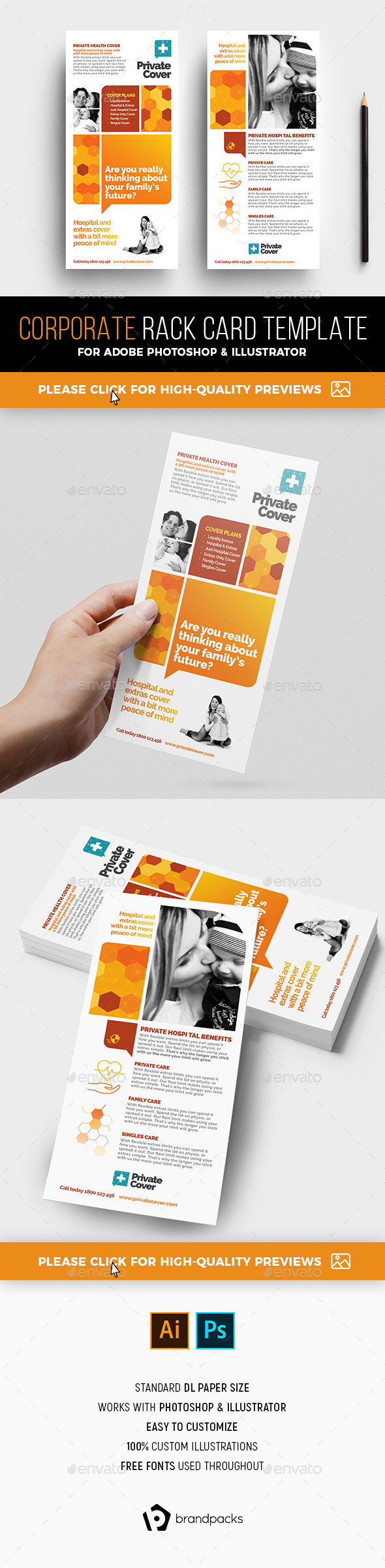 Corporate Rack Card Template - Corporate Flyers