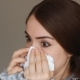 Portrait of a Young Woman Who Sneezes and Holds a Handkerchief in His Hands Allergic Reaction of - VideoHive Item for Sale
