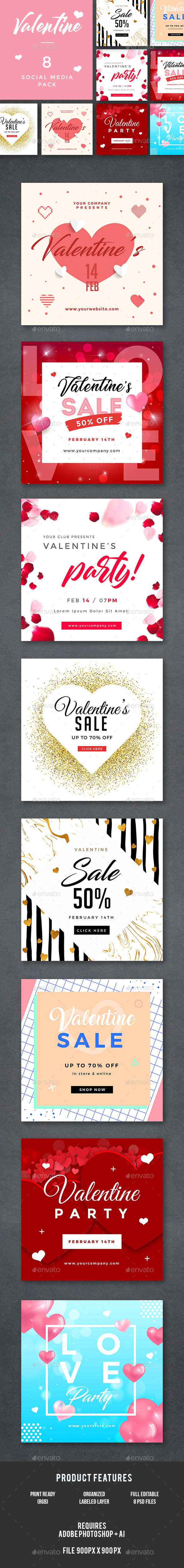 Valentines Day Banners - Banners & Ads Web Elements