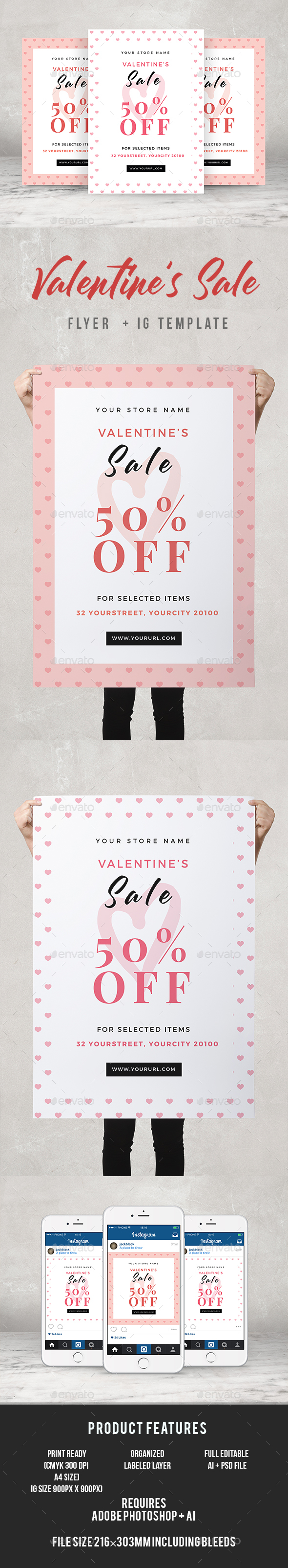 Valentines Sale Flyer - Commerce Flyers