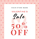 Valentines Sale Flyer - GraphicRiver Item for Sale