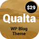 Qualta - Responsive WordPress Blog Theme - ThemeForest Item for Sale