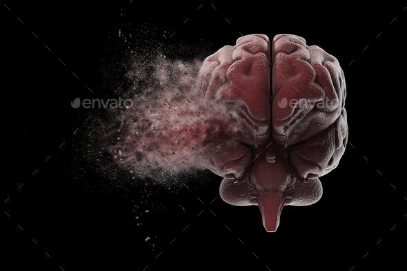Exploding brain - Stock Photo - Images