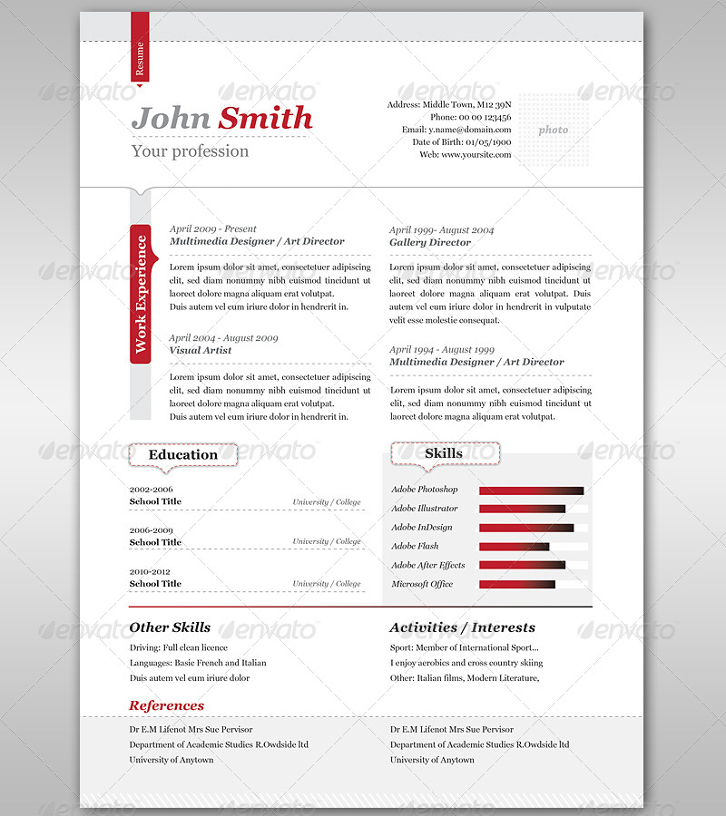 resume cover letter by punedesign graphicriver