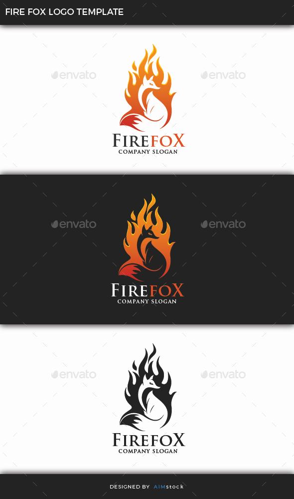 Fire Fox Logo Template - Animals Logo Templates