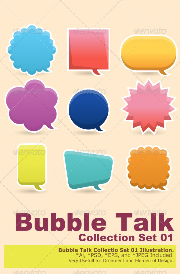 Colorful Speech Bubble - Decorative Symbols Decorative