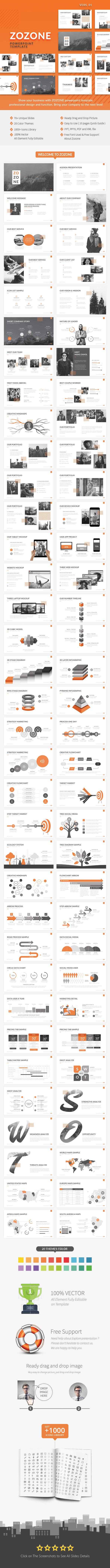 ZOZONE - Simple Modern Powerpoint Presentation Template - Business PowerPoint Templates